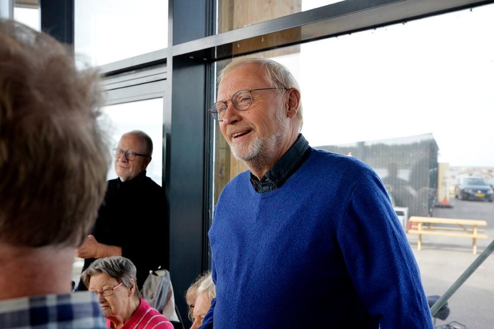 Niels Erik Danielsen (EL) var eneste kommunalbestyrelsesmedlem som var mødt op til den stiftende generalforsamling. Foto: Jens Nielsen