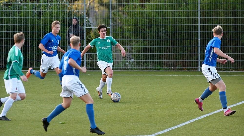 Oisin Reddy bragte Svebølle foran 2-1. Foto: Jens Nielsen