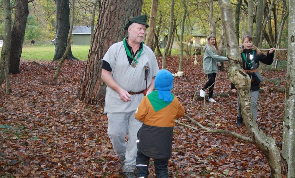 Robin Hood tur med Hvidebæk Spejderne.