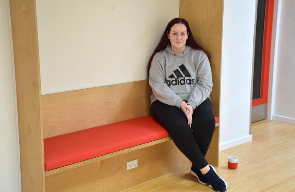 Simone Jensen går i 3.R, der er den første 3-årig HF klasse på Kalundborg Gymnasium. Foto: Gitte Korsgaard.