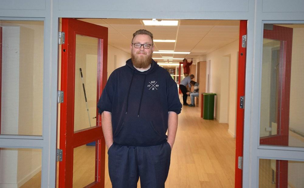 Jeppe Bergmann går i 3.R, der er den første 3-årig HF klasse på Kalundborg Gymnasium. Foto: Gitte Korsgaard.