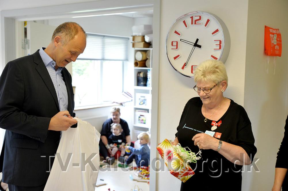 Der var gaver fra Kalundborg Kommune. Foto: Jens Nielsen
