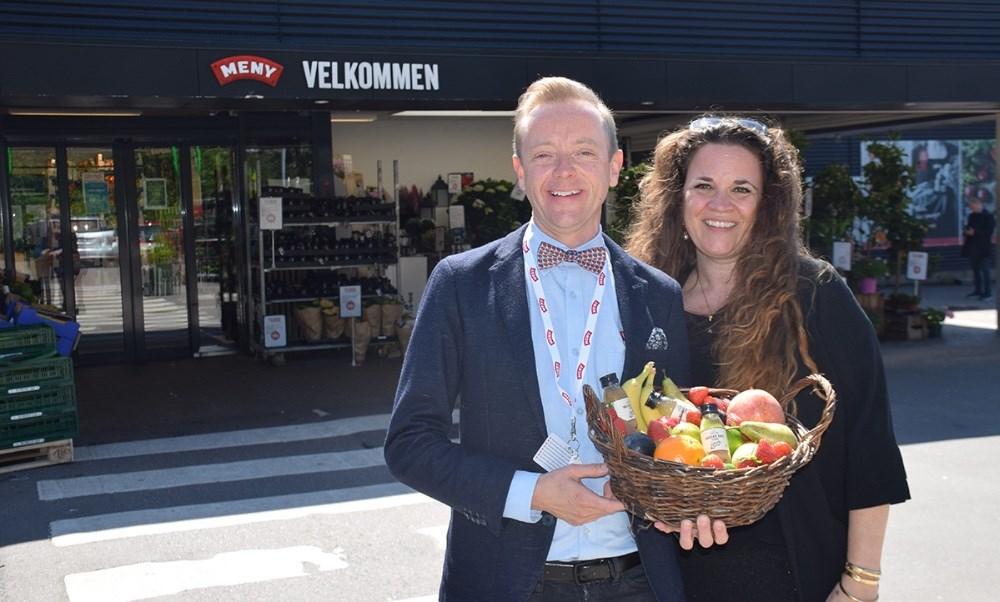 Marlies Eriksen og Peter Egebæk står bag det nye koncept ´Sommerklar med Meny Kalundborg´. Foto: Gitte Korsgaard.