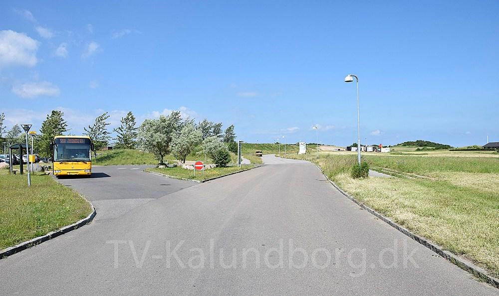 Der mangler cykelsti mellem Idrætsinstitutionen Aktivarius på Klosterparkvej og Skolen På Herredsåsen. Foto: Gitte Korsgaard.