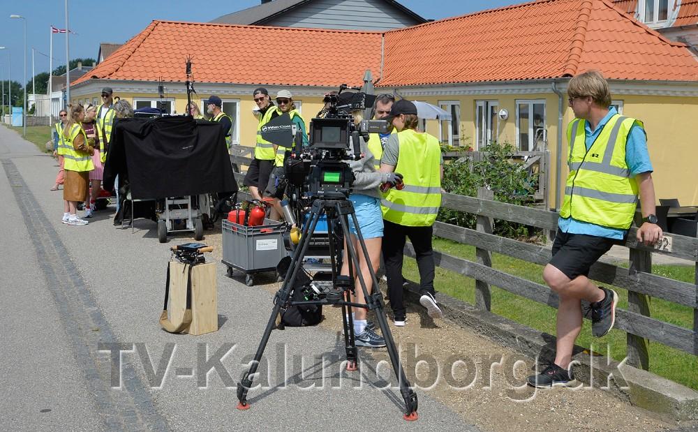 DR optog til en ny dramaserie på Kystvejen i Kalundborg. Foto: Jens Nielsen