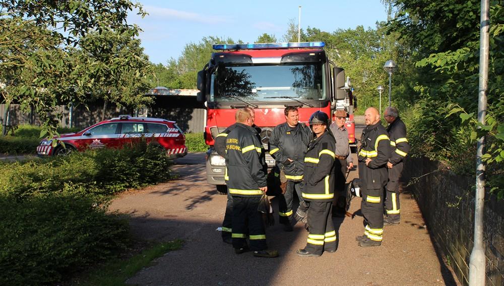 Brandfolkene kunne hurtigt returnere til stationen. Foto: Frederik Jørgensen