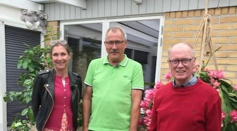 Sille Roulund, Niels-Erik Sørensen og Erik Andersen. Privatfoto