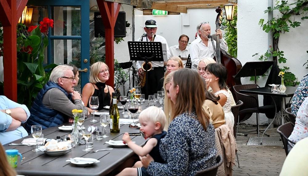 Jazz og god mad på Reersø Kro. Foto: Jens Nielsen