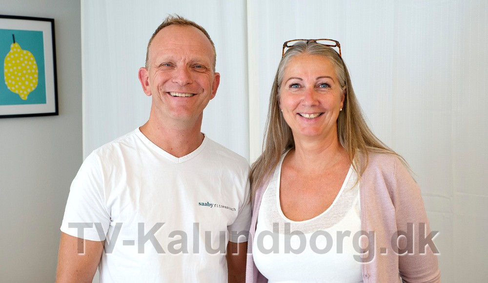 Thomas Saaby Hansen fra Go´ Form, her sammen med Birgitte Cetti fra Kalundborg Helseklinik. Foto: Jens Nielsen