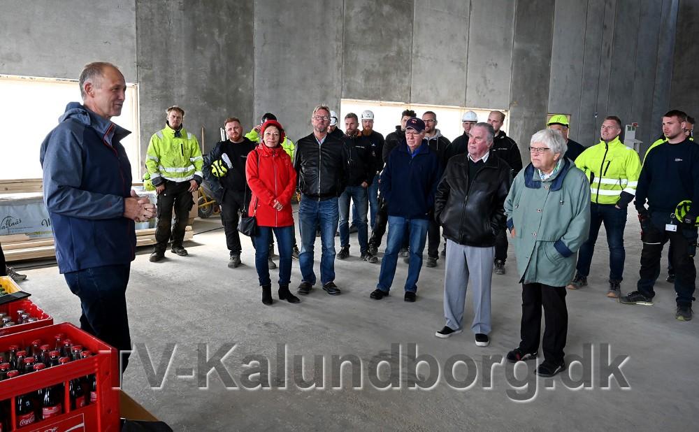 Borgmester Martin Damm talte til de fremmødte. Foto: Jens Nielsen