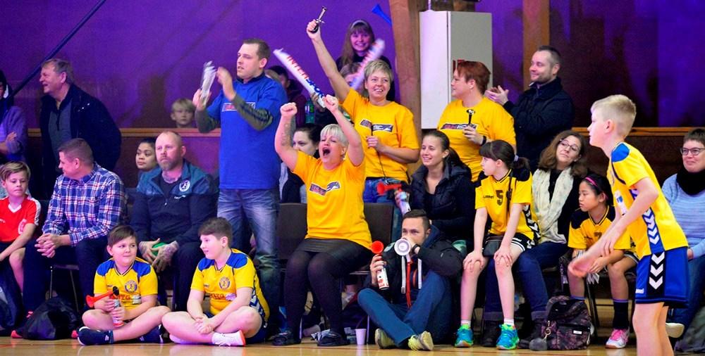 Der bliver nærmest landskampstemning i Rørbyhallen i tre dage. Arkivfoto: Jens Nielsen