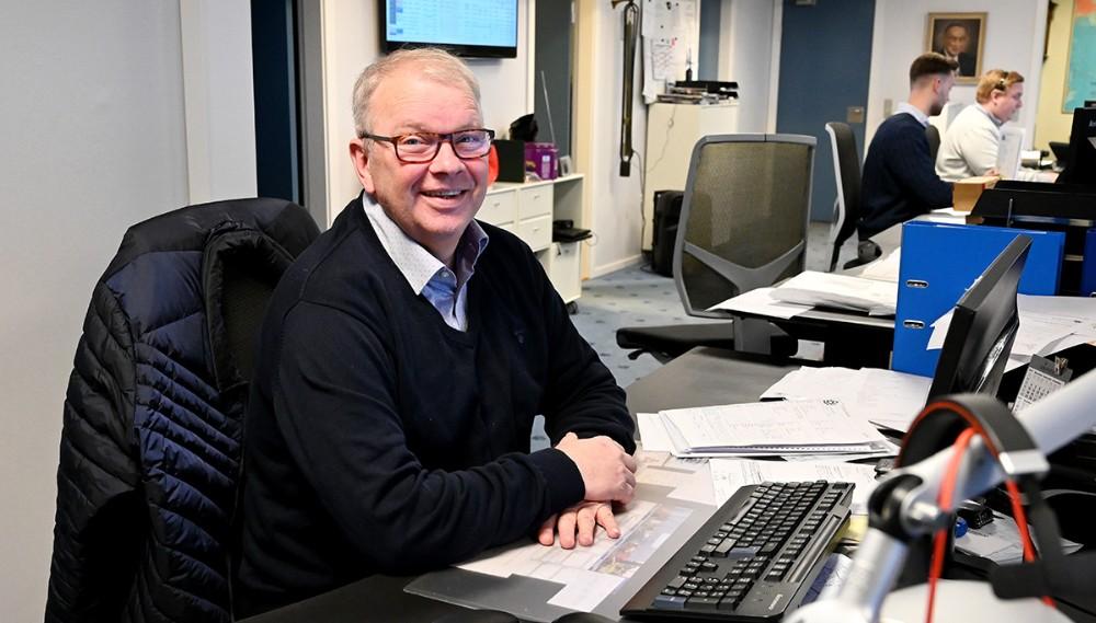 Benny Pedersen på kontoret hos Schultz Shipping. Foto: Jens Nielsen