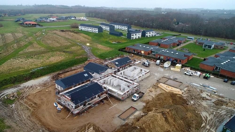 Den nye daginstitution Buldervang ved Lupinvej begynder at tage form. Foto: Jens Nielsen
