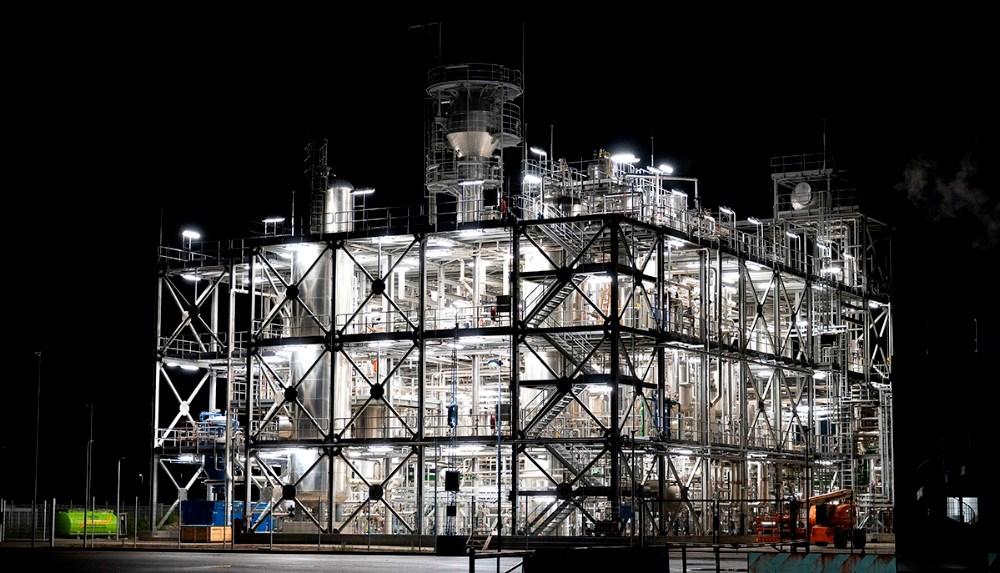 Avista Oils nye raffinader på Kalundborg Havn har kostet i omegnen af 500 mio. kr. Foto: Jens Nielsen