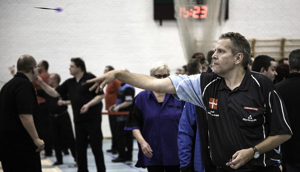 Morten Paulsen, Vinderen af SM 2016. Foto: Dansk Dart Union
