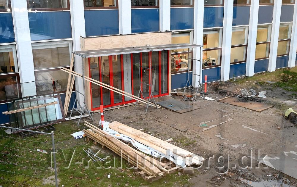 Den nye hovedindgang er ikke helt færdig. Foto: Jens Nielsen