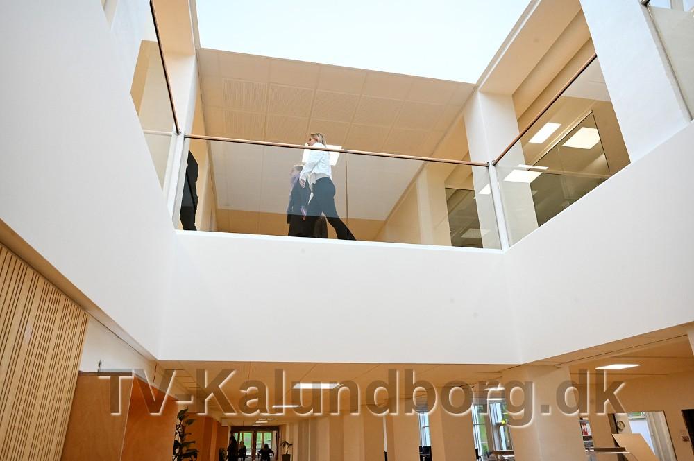 Den store renovering på Kalundborg Gymnasium er nu færdig, lørdag var der inviteret til Åbent Hus. Foto: Jens Nielsen