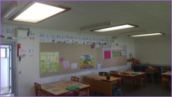 Barak på Nørre Jernløse Skole, der fik renset luften ved hjælp af en luftrensningsmaskine fra Airmanager Technologies.
