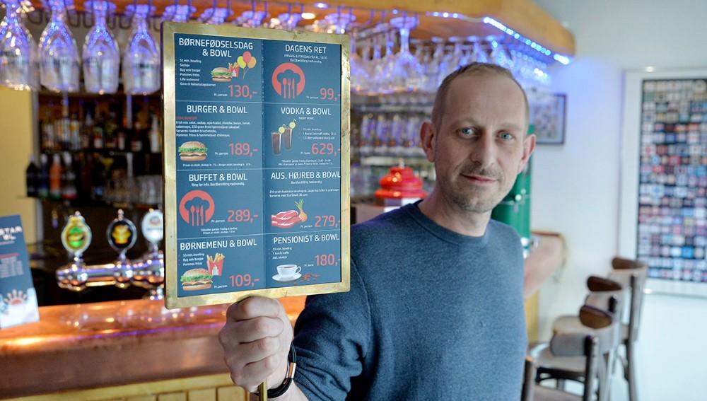 Et helt nyt menukort på Starbowl. Foto: Jens Nielsen