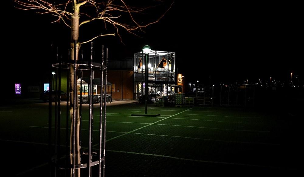 Onsdag i sidste uge var der nærmest kaotiske tilstande i Netto i Kalundborg, tirsdag aften var situationen helt anderledes rolig. Foto: Jens Nielsen