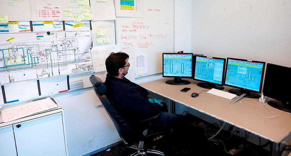 En del af kontrolrummet. Foto: Jens Nielsen