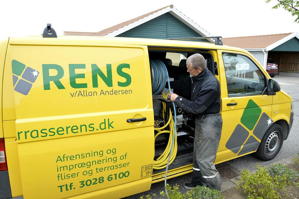 Allan Andersen, indehaver af Flise og Terrasse Rens. Foto: Jens Nielsen
