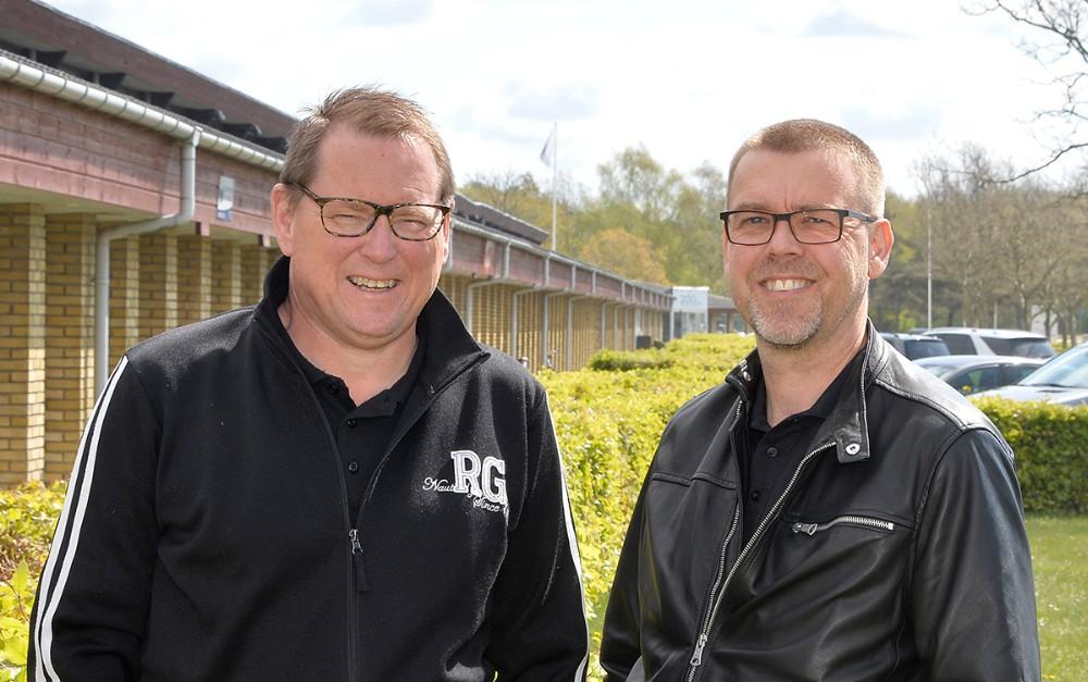 Søren Bang Knudsen og Peter Bisgaard fik, sammen medTorben Wad Jørgensen, ideen til Kalundborg Rock´er for 20 år siden. Foto: Jens Nielsen