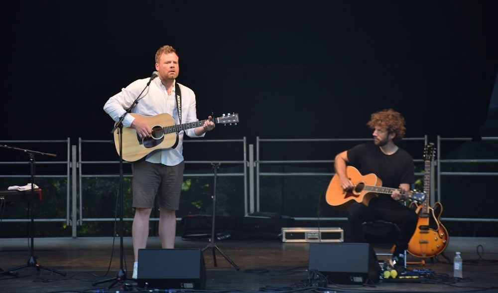 Patrick Dorgan med band (Andreas) gik på efter Lars DK Nielsen. Foto: Gitte Korsgaard.