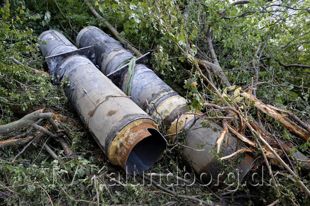 De gamle ødelagte fjernvarmerør. Foto: Jens Nielsen