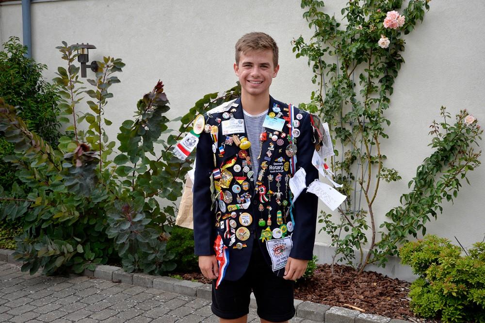Johan Ildor i sin Rotary udvekslingsstudent jakke. Foto: Jens Nielsen