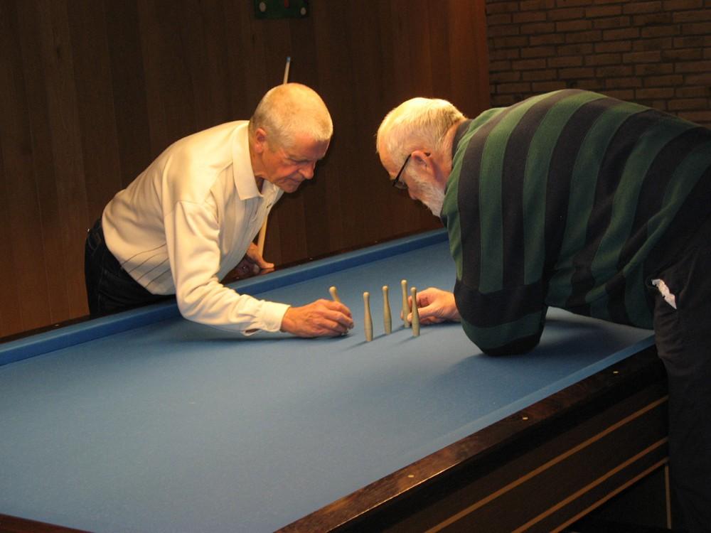 Der kan også spilles billard. Privatfoto