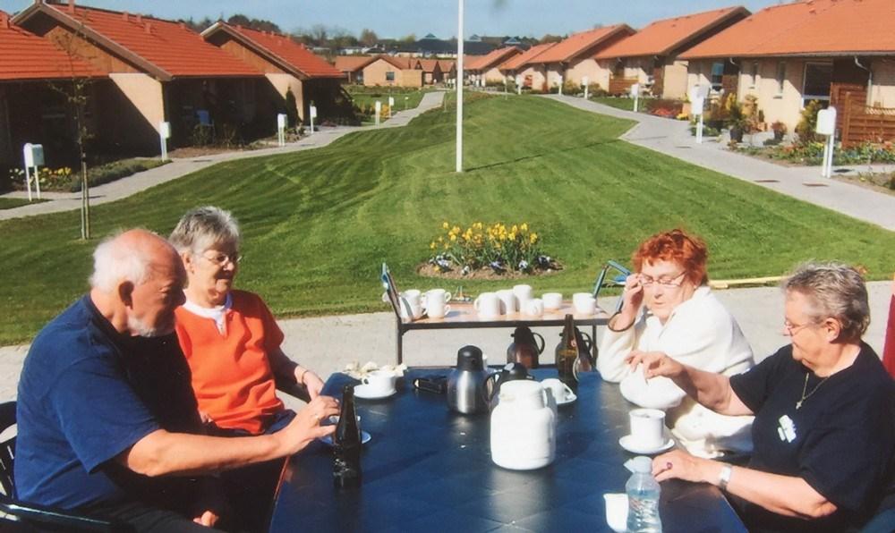 Der er rigtigt hyggeligt i seniorbofællesskabet Klosterengen i Kalundborg. Privatfoto