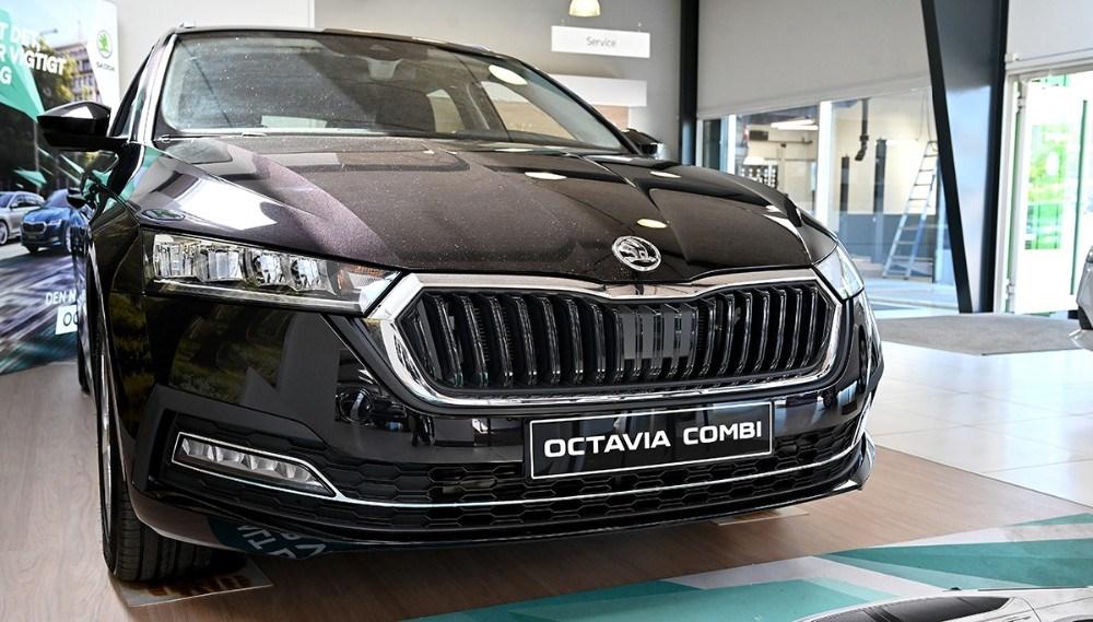 Fronten er helt anderledes på den nye Octavia. Foto: Jens Nielsen