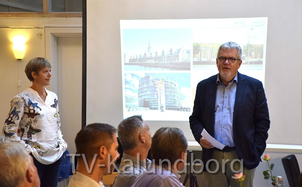 Møde på Café Solsikken i Kalundborg omkring udvikling af Kalundborg bymidte. Foto: Gitte Korsgaard.