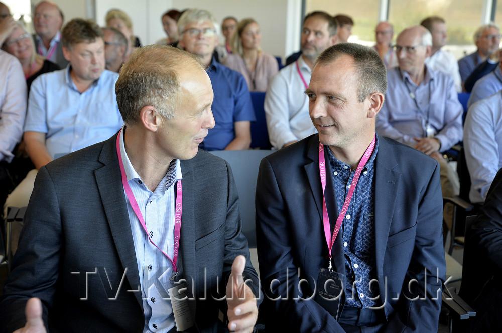 Martin Damm i snak med Jan Sylvest Jensen. Foto: Jens Nielsen