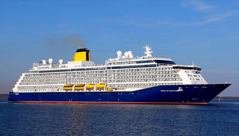 Det nybyggedeSpirit of Discovery anløber Kalundboeg Havn på mandag morgen.