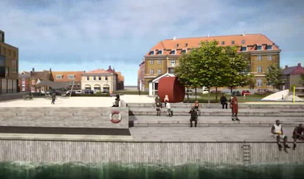 Billede fra animationsfilm om havneparken