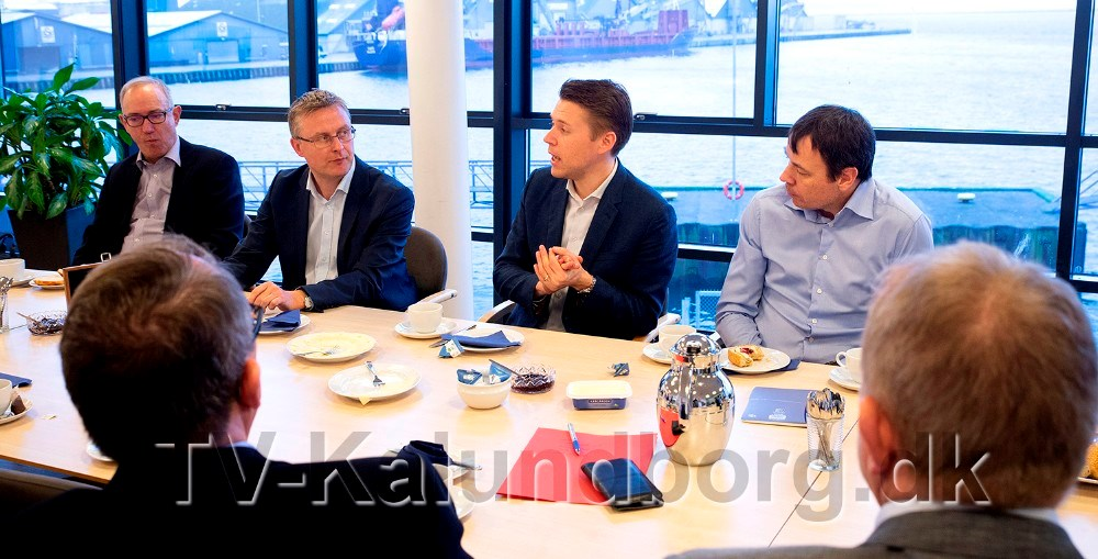 Politikere var inviteret til dialogmøde med en række virksomheder, tirsdag formiddag. Foto: Jens Nielsen