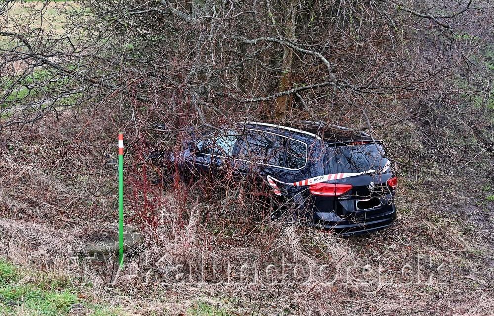 Den 18-årige kørte frontalt ind i et træ. Foto: Jens Nielsen
