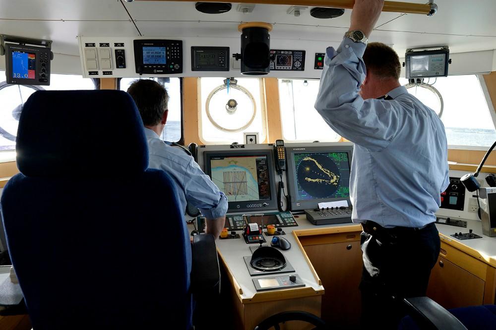 Et kik i komandocentralen på Holger Danske, der er spækket med avanceret udstyr. Foto: Jens Nielsen