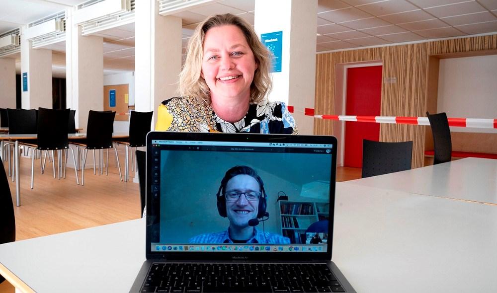Trine Fogh Lauridsen og Rasmus Brøgger Najbjerg er nomineret til Politikens Undervisningspris. Foto: Jens Nielsen