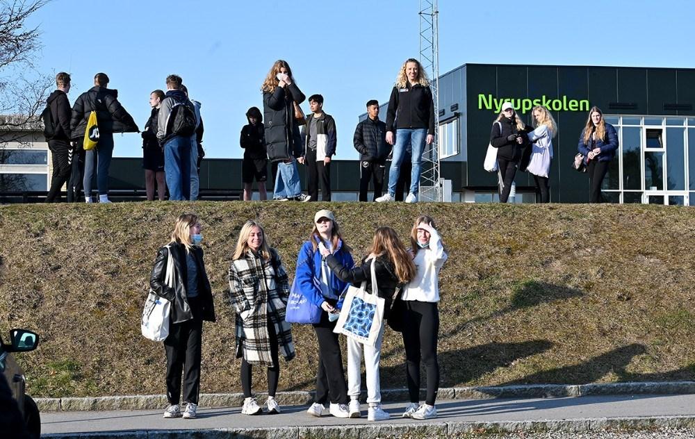 Eleverne fra 6. til 8. klasse er med i fire programmer på DR1 senere på året. Foto: Jens Nielsen
