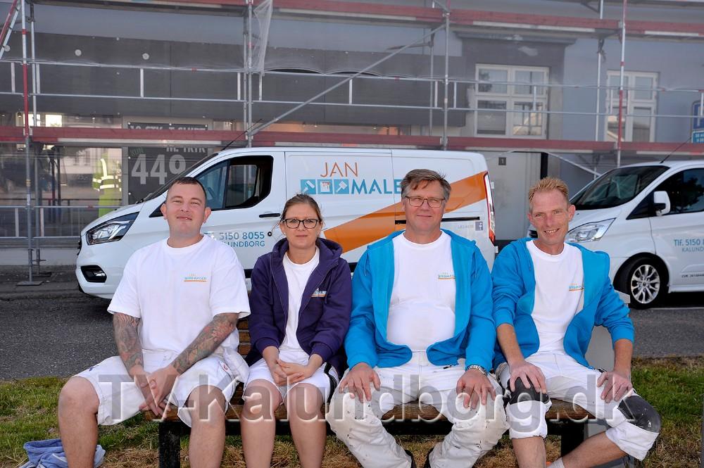 Fra venstre, Nick Toke Nielsen, Michelle Hansen, Bjarne Berthelsen og Jan Jønsson. Foto: Jens Nielsen