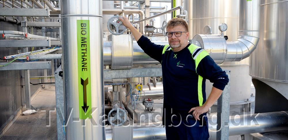 Driftchef på Kalundborg Bioenergi,Erik Lundsgaardarbejder på højtryk på at løse lugtgenerne. Foto: Jens Nielsen