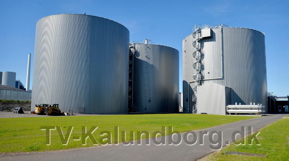 De tre reaktorer på hver 9500 kubikmeter er hjertet i hele biogasanlægget. Foto: Jens Nielsen