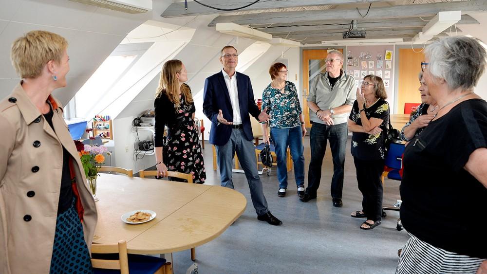 Efter taler var der rundvisning i lokalerne. Foto: Jens Nielsen