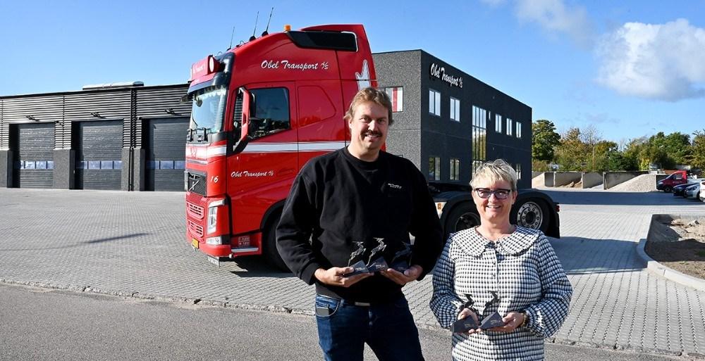 Nølle og Peter Obel har nu modtaget den 5. Gazellepris fra Børsen. Foto: Jens Nielsen
