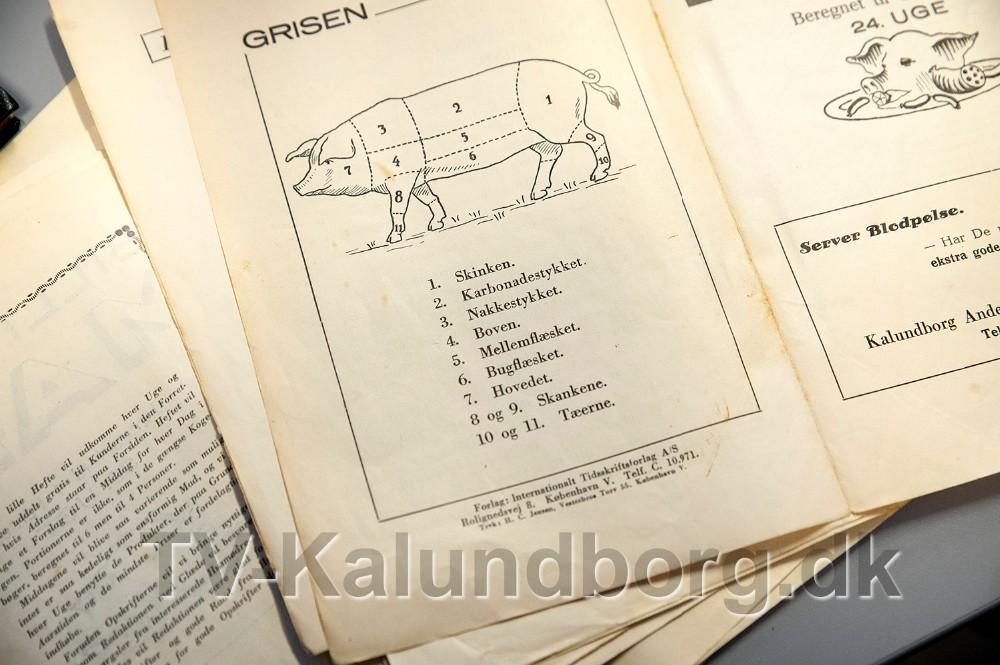 De gamle opskrifthæfter er fra omkring 1935. Foto: Jens Nielsen