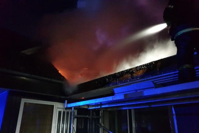 Brand i sommerhus onsdag aften på Kongesvinget på Røsnæs. Privatfoto