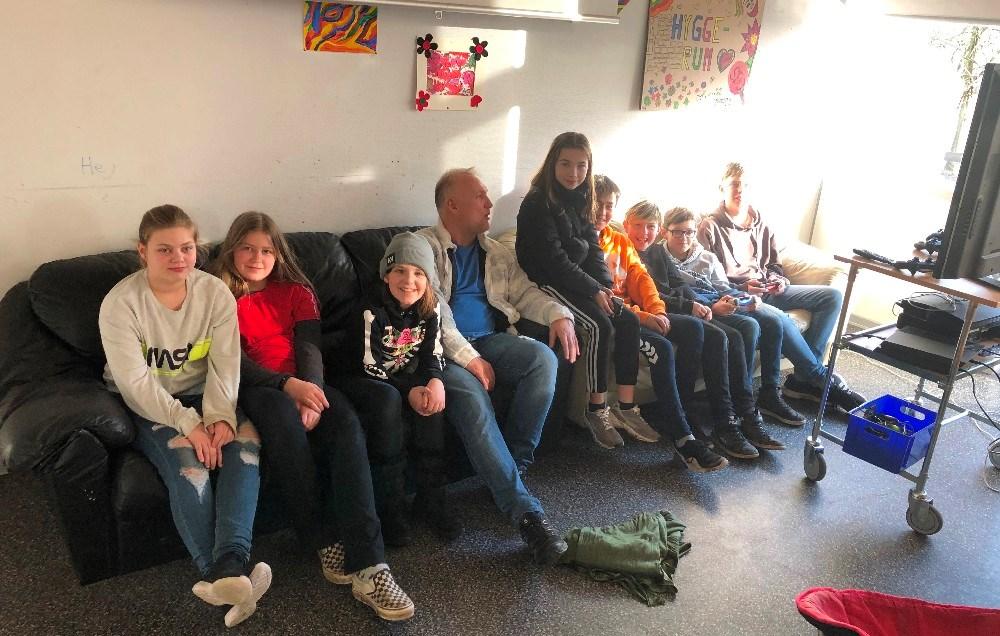 Der bliver hygget i SFO´en på Rynkevangskolen. Foto: Privat.